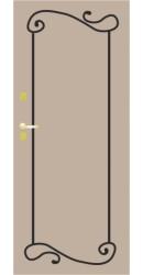 Отделка кованными  элементами k045