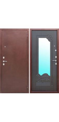 Дверь металлическая с зеркалом vr003
